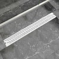 Linear Shower Drain Wave 930x140 mm Stainless Steel