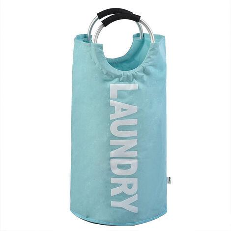 "main image of ""Linen baskets, Foldable Linen Bag, Folding Large Capacity Linen Bib (Blue, L)"""