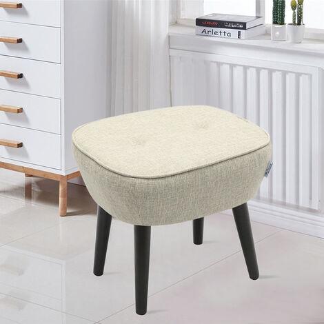 Linen Dressing Footstool Small Stool