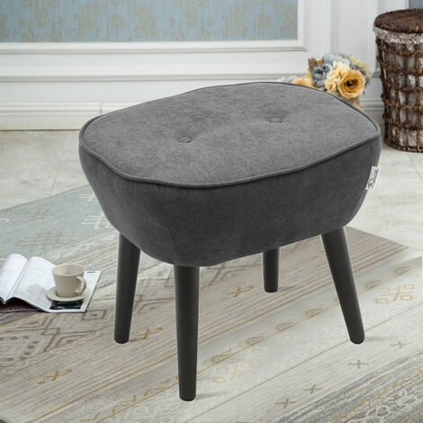 Linen Dressing Footstool Small Stool