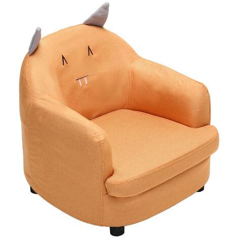 Linen Fabric Kids Children Armchair Cartoon Sofa Tub Chair Thick Padding Seat