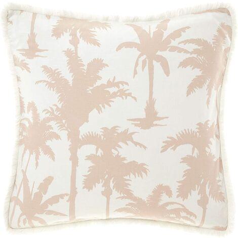 Linen House Luana Palm Tree Square Pillowcase (One Size) (Multicoloured)