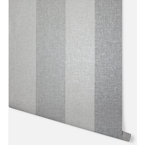 Linen Stripe Grey Wallpaper - Arthouse - 697803