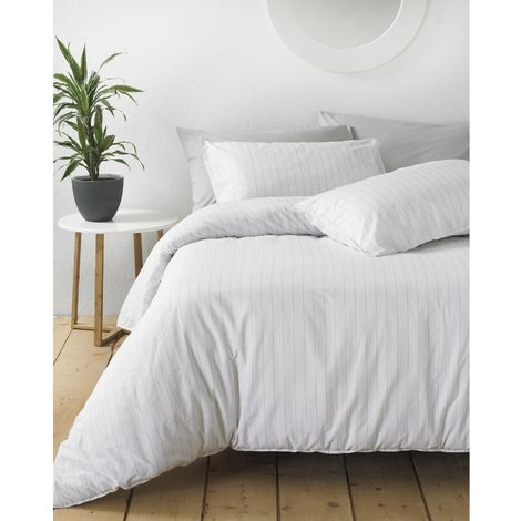 Linen Yard Linear Duvet Cover Set