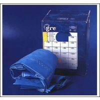 Liner Bleu pour piscines avec forme de 8 de Gre Liner Bleu 40/100 700x450x120 Suspendu FPROV707