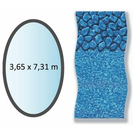 liner boulder forme ovale 3.65x7.31m pour piscine hors sol - li1224sbo - swimline