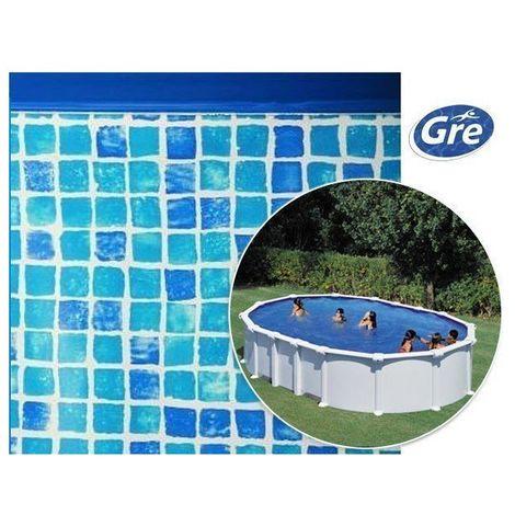 Liner mosaïque pour piscine hors sol ovale Gre Pool