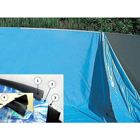 "main image of ""Liner piscine hors-sol Toi SWIMPOOL ovale 731 x 366 x 120cm 40µ coloris uni bleu"""