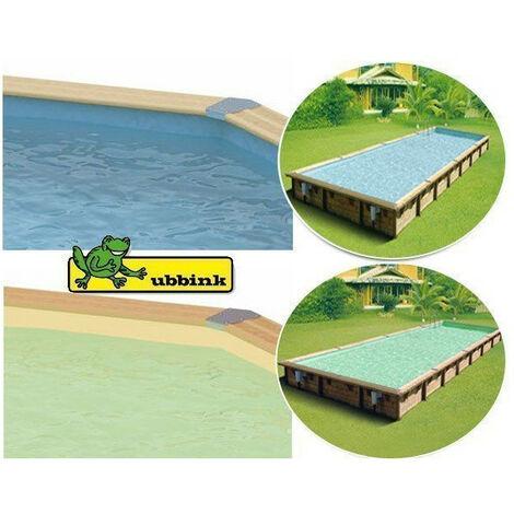 Liner sable ou bleu pour piscine allongée Ubbink - Couleur liner: Gris - Dimensions piscine: Octogonale 550 x 355 x 120 cm