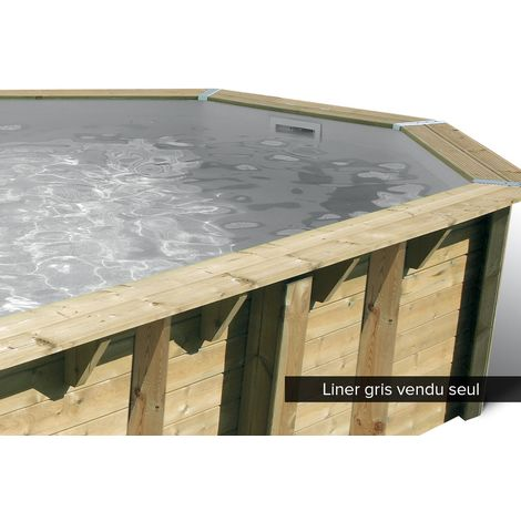 Liner seul pour piscine bois Océa Ø 5,80 x 1,30 m Gris