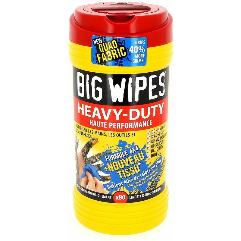 Universel - Lingettes big wipes par 80 pour Meuleuse, Decapeur thermique, Decolleuse, Defonceuse, Etabli, Lime electrique, Outil multifonction,
