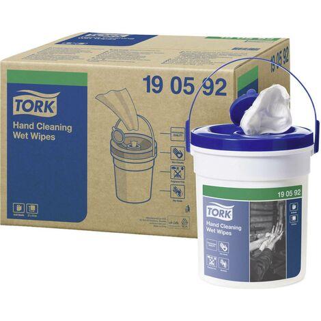 Lingettes de nettoyage pour les mains TORK 190592 douces et résistantes non tissées (blancs) 58 pc(s)