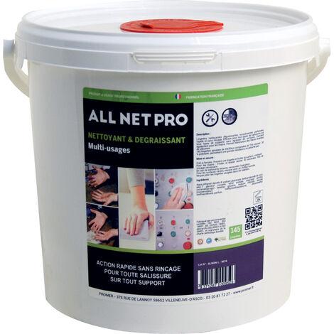 Lingettes nettoyantes all net pro x145 - Conditionnement : 145 lingettes - SOFAPI