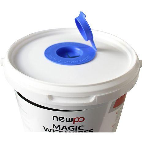 Lingettes nettoyantes pour usage industriel | Seau de 90 lingettes | Newpo