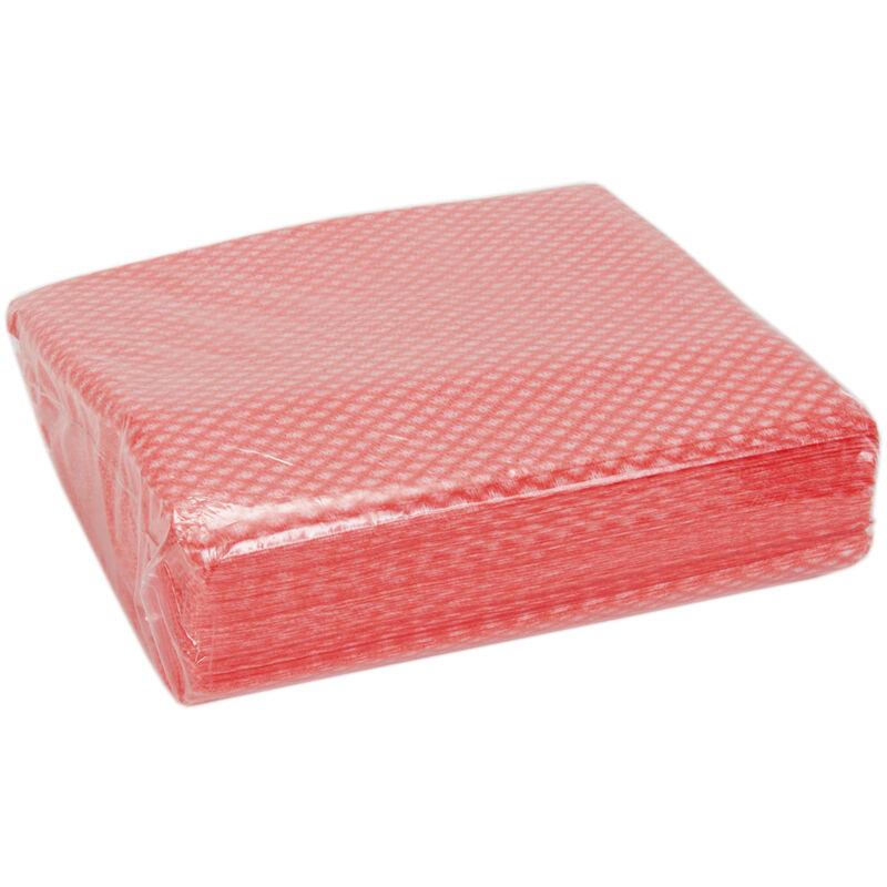 Rs Pro - Chiffons Rouge, 50 par Boîte pour Nettoyage léger