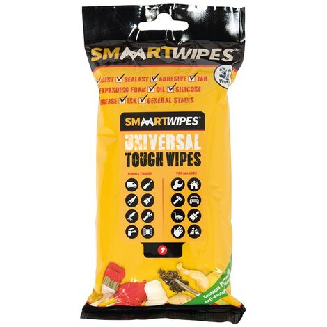 Lingettes universelles ultrarésistantes - 30 lingettes Paquet de 30 lingettes