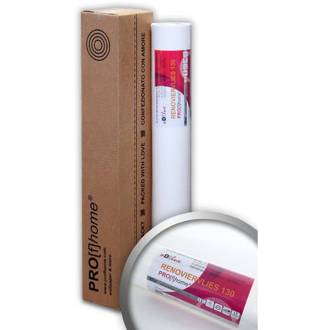 Lining paper for painting 130 g Profhome 399-130 non-woven standard wall liner smooth paintable 1 roll 201 sq ft (18.75 sqm)