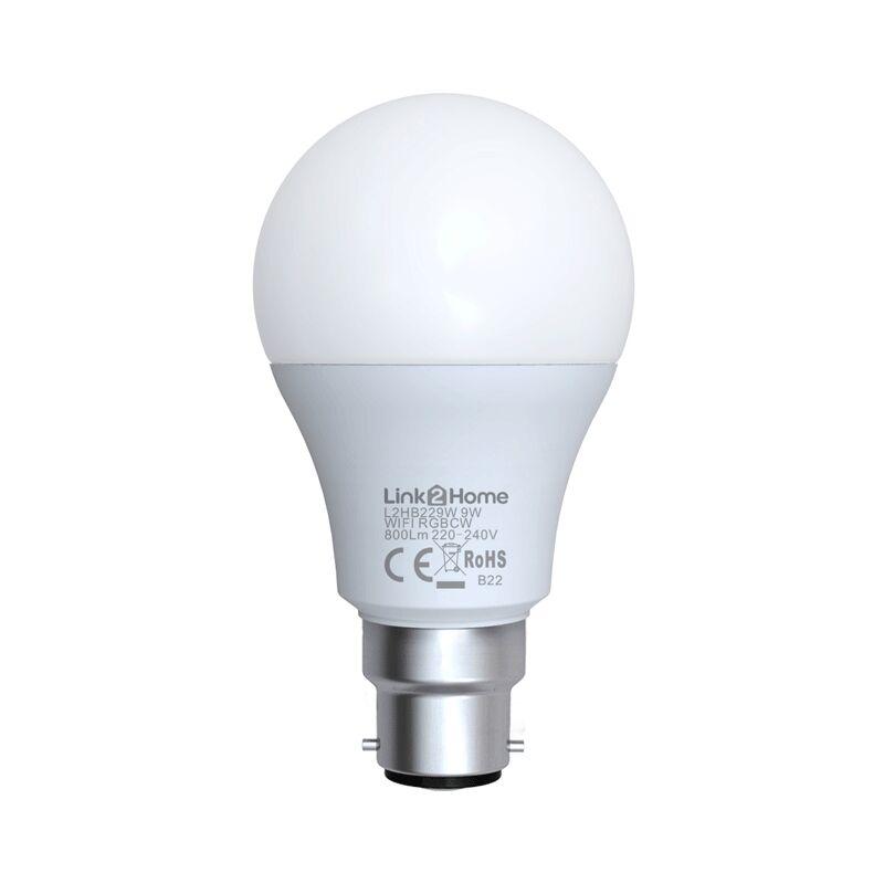 Image of LTHB229W B22 Wi-Fi LED lamp with RGB 800lm 9W - Link2home