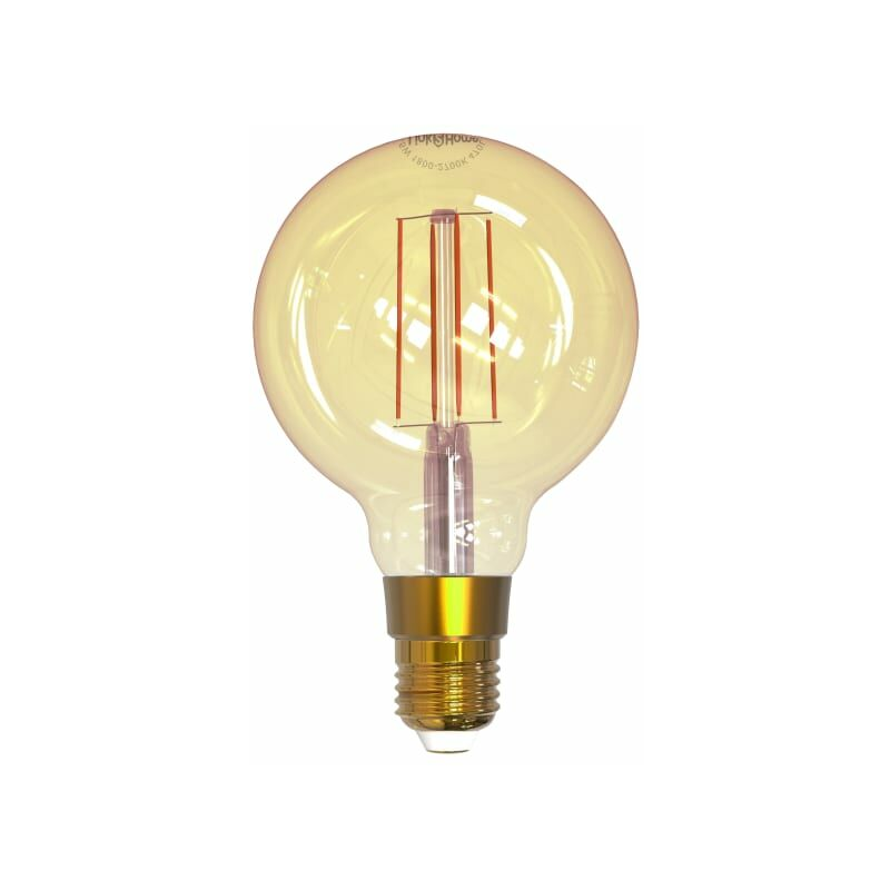 Image of Wi-fi Led Es (e27) Balloon Filament Dimmable Bulb, White 470 Lm 5.5w - Link2home