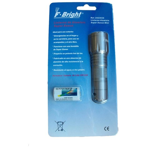 Linterna aluminio super xenon mini