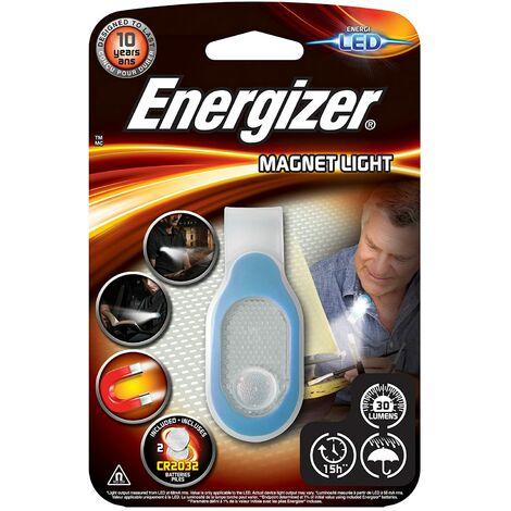 Linterna Energizer magnetica Light para uso deportivo o trabajo, 30 lumenes 2CR2032