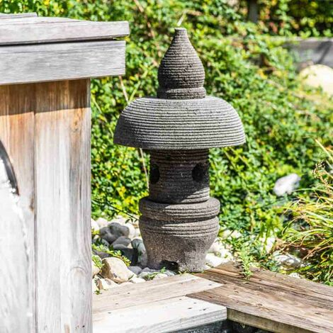 linterna japonesa de piedra de lava 55 cm jardín zen