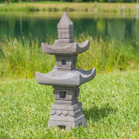 Linterna japonesa de piedra de lava 70 cm