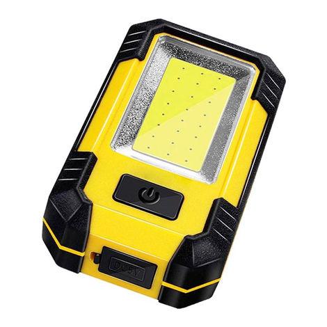 Linterna LED con Gancho e Imán IP65 + Función Power Bank (Batería de Litio 4000 mAh) Blanco Frío 6000K | IluminaShop