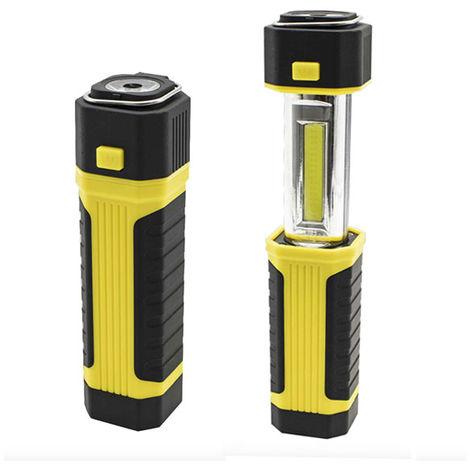 Linterna LED Extensible Multifunción con Imán IP65 (Pilas AA Incluidas) Blanco Frío 6000K | IluminaShop
