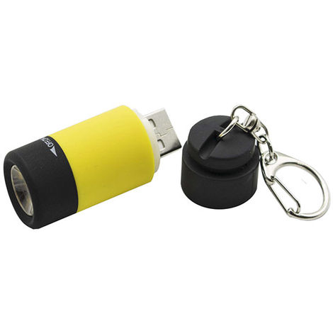 Linterna LED Mini USB IP65 (Pilas AA Incluidas) Blanco Frío 6000K | IluminaShop