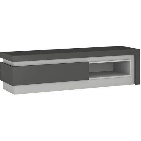 Lion 1 drawer TV cabinet with open shelf (including LED lighting)