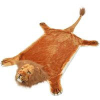 Lion Carpet Plush 205 cm Brown