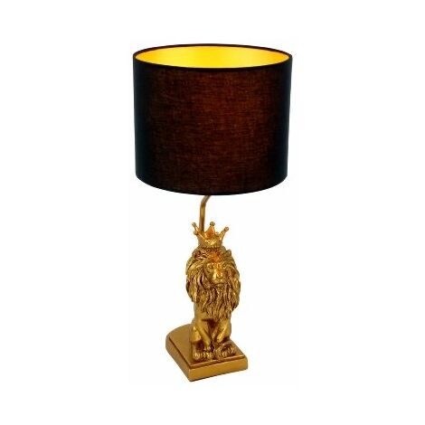 """main image of """"Lion Gold Table Lamp"""""""