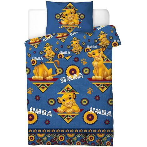 Lion King Childrens/Kids Simba Single Rotary Duvet Cover Set (One Size) (Blue)