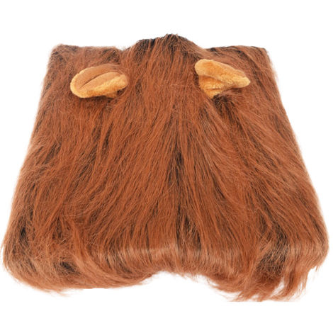 Lion Mane Costume for Dog Lion Dog Costume with ear dark brown