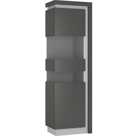 Lion Tall narrow display cabinet (LHD) (including LED lighting)