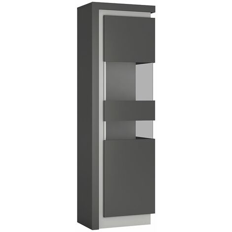 Lion Tall narrow display cabinet (RHD) (including LED lighting)