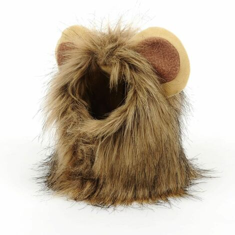 """main image of """"Lion's Mane Costume Cat Pet Wigs With Ears Cute Funny Dog Headdress For Holiday Cosplay Party"""""""