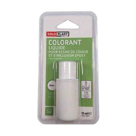 Liquide colorant pour résine SOLOPLAST 15ml blanc - Blanc