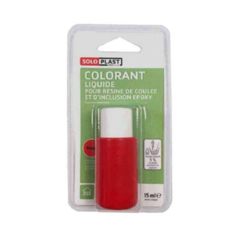 Liquide colorant pour résine SOLOPLAST 15ml rouge - Rouge