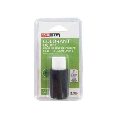 Liquide colorant pour résine SOLOPLAST 15ml vert translucide - Vert