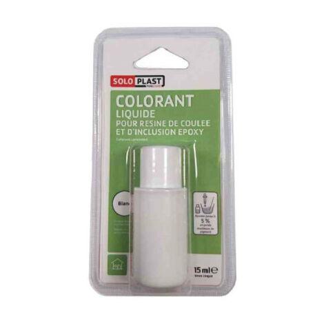 Líquido colorante para resina SOLOPLAST 15ml blanco - Blanc