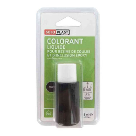 Líquido colorante para resina SOLOPLAST 15ml negro - Noir