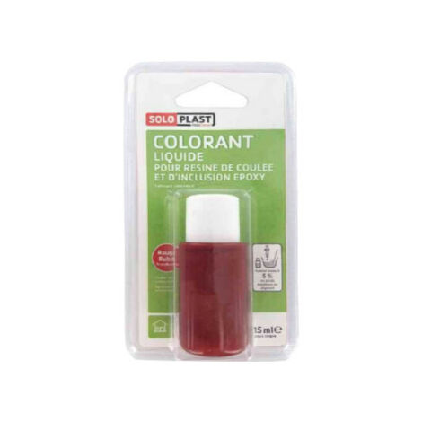 Líquido colorante para resina SOLOPLAST 15ml rojo rubí - Rouge