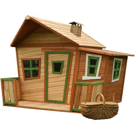 Lisa Playhouse: Maisonnette pour enfants, fenêtres intégrées et bois très résistant