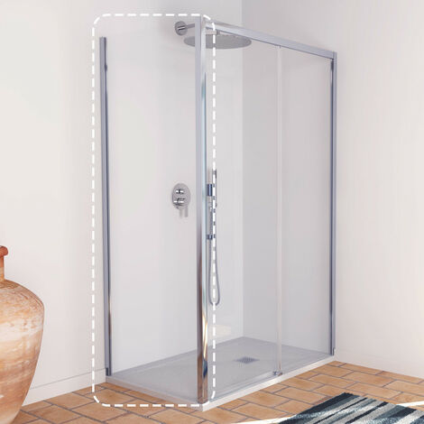 Lisboa Lateral fijo de 70 cm para mampara de ducha frontal