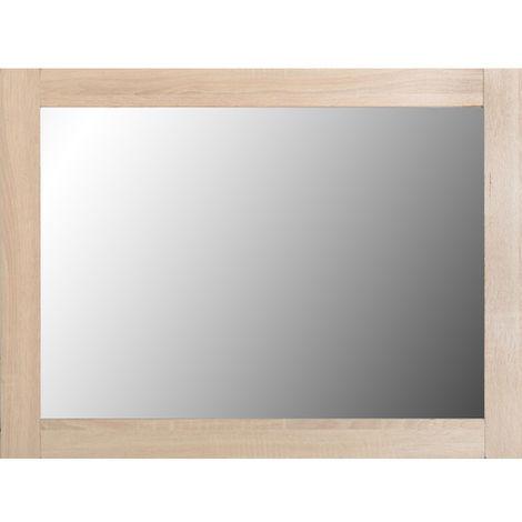 Lisbon Mirror - Light Oak Effect Veneer