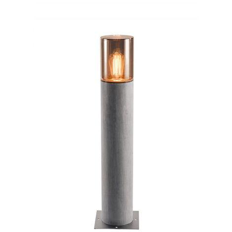 LISENNE 70, borne, gris verre fumé, E27 23W max., IP54 - gris/verre fumé - gris/verre fumé