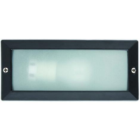 LISO Lámpara empotrable de pared negro IP44