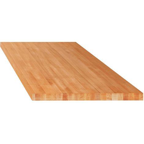 Lista Etabli modulaire, plateau - hêtre massif - l x p 1500 x 750 mm, épaisseur 40 mm